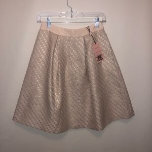 NWT Ted Baker Boucle Pleat Skirt